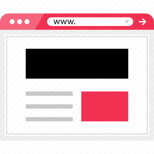 header, layout, online, page, web icon