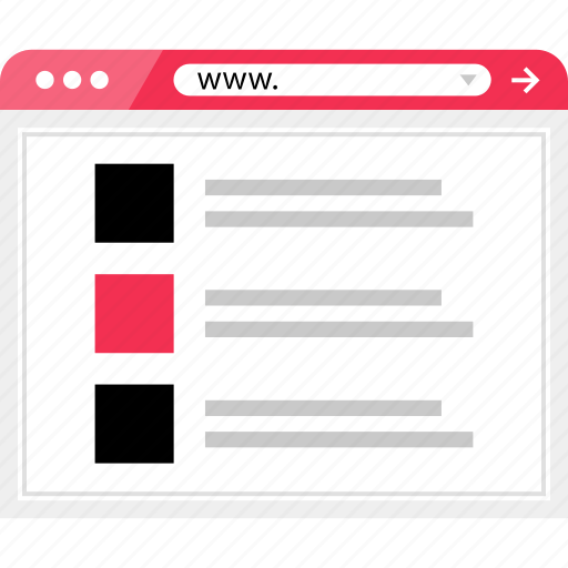 layout, list, online, page, web icon