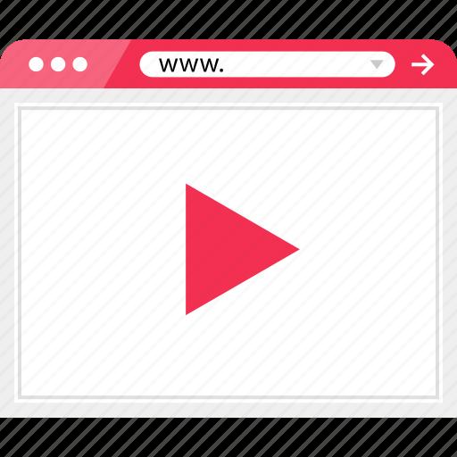 media, online, video, web icon