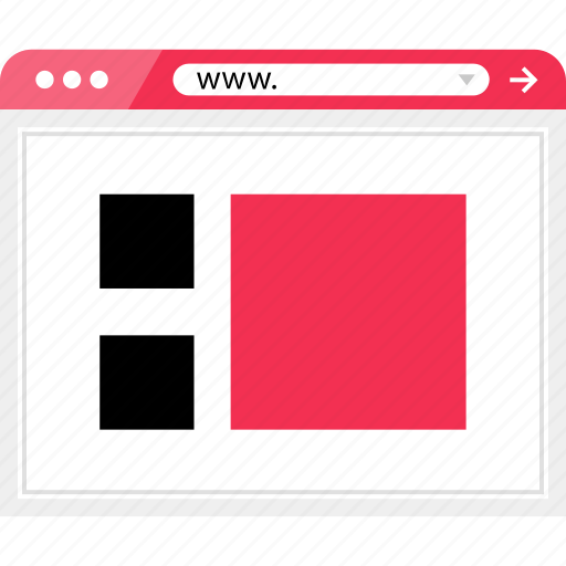 layout, online, page, web icon