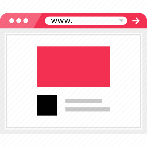 internet, layout, online, page, web icon