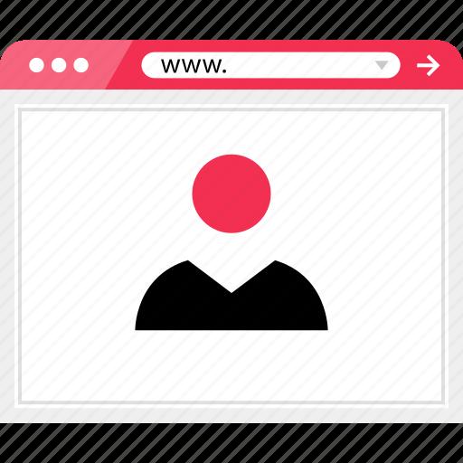 friend, internet, online, user, web icon