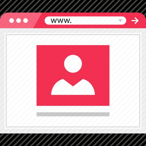 internet, profile, user, web icon