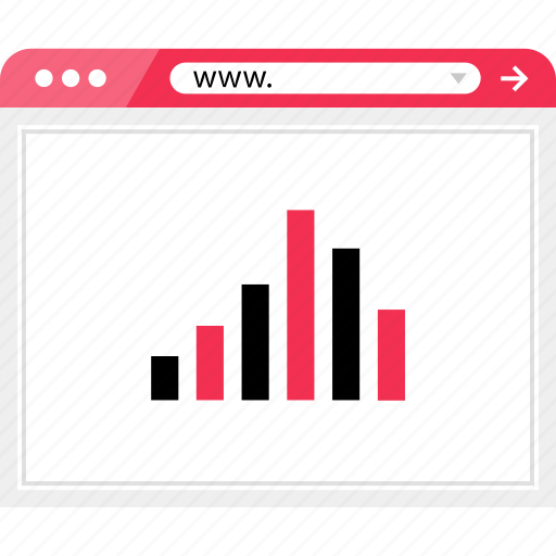bars, data, graph, report, wireframe icon