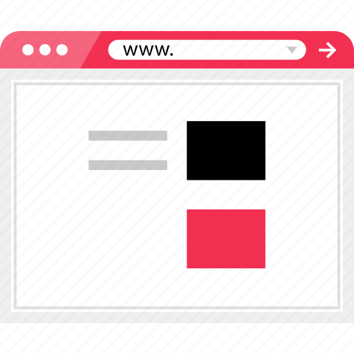 blog, list, page, post, view, wireframe icon