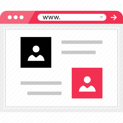 chat, online, profile, users, web, wireframe icon