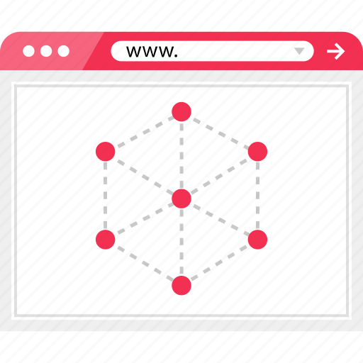 cube, interner, server, web, wireframe icon
