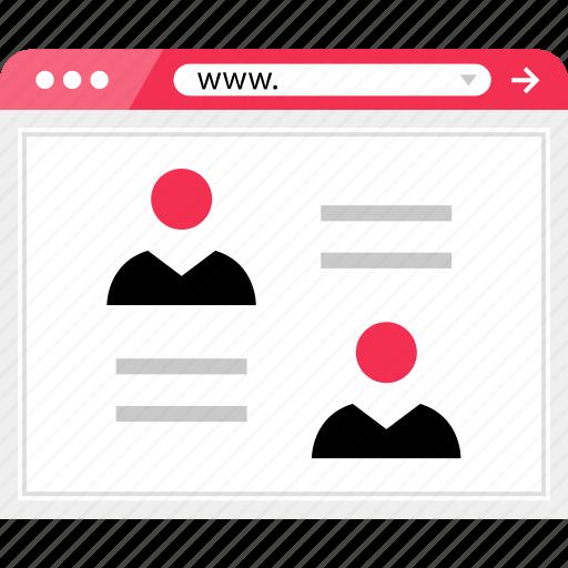 facebook, friends, online, web, wireframe icon