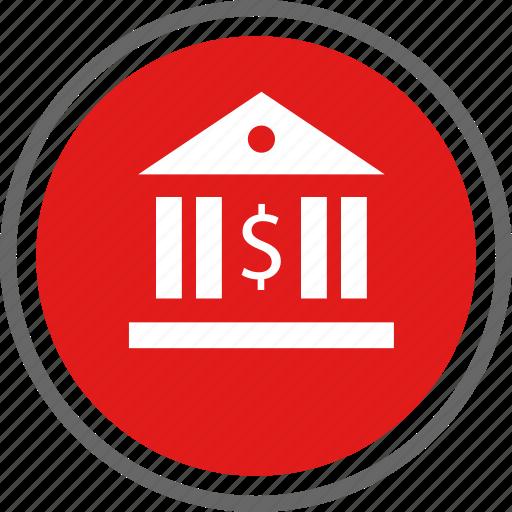 bank, banking, dollar icon