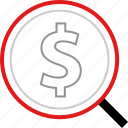 finding, money, pay icon