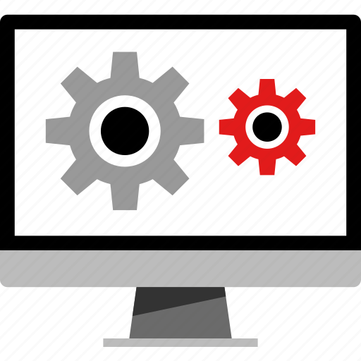 pc, rotate, web, working icon