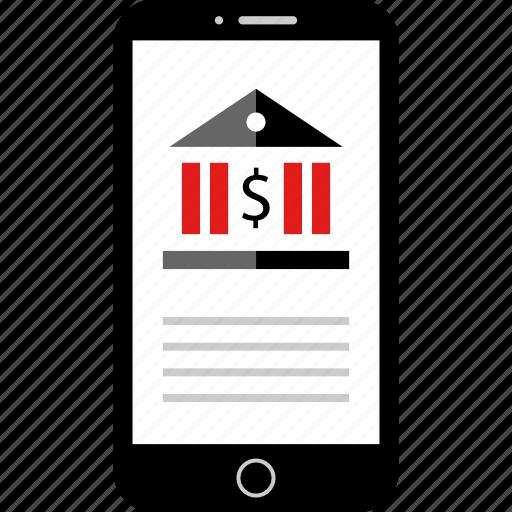 banking, mobile, startup, web icon