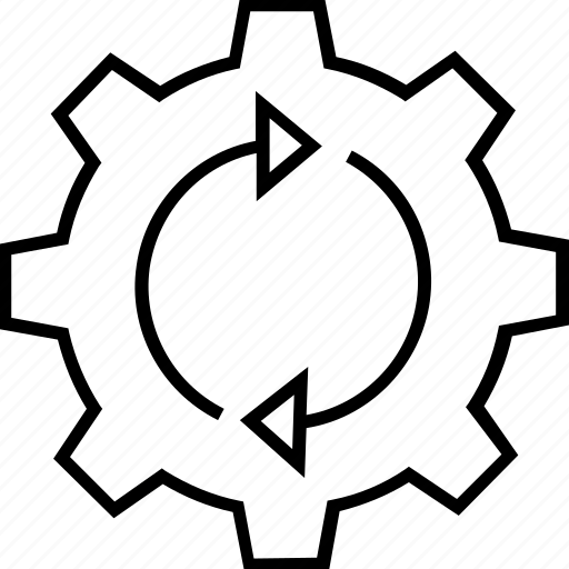 cogwheel, optimization, refresh, synchronization, update icon