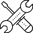repairing, spanner, technical, technical support, tools icon
