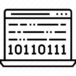 binary, binary code, programming, source code, web code icon