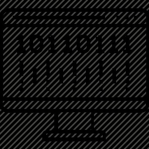 binary, coding, data, data mining, qr code icon