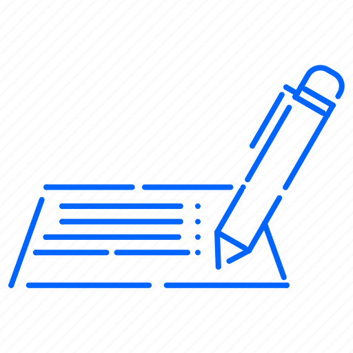 document, letter, pen, writing icon