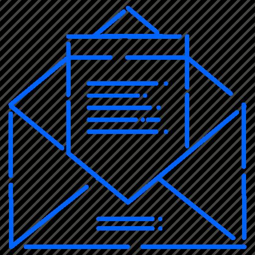 envelope, letter, message icon
