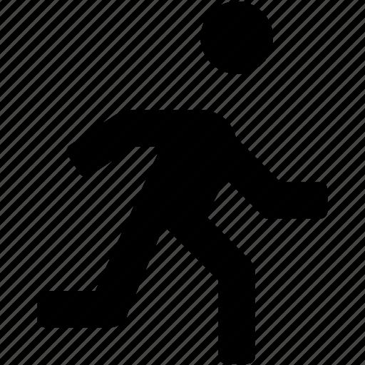 jogging, man, pedestrian, running, walking icon