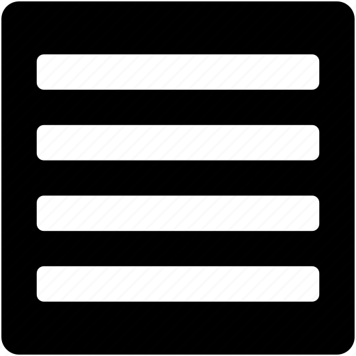 alignment, horizontal lines, interface, lines, text lines icon