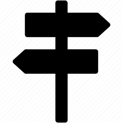 direction post, direction sign, guidepost, road sign, signpost icon