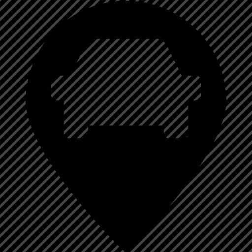 gps, map pin, navigation, navigational, parking pin icon