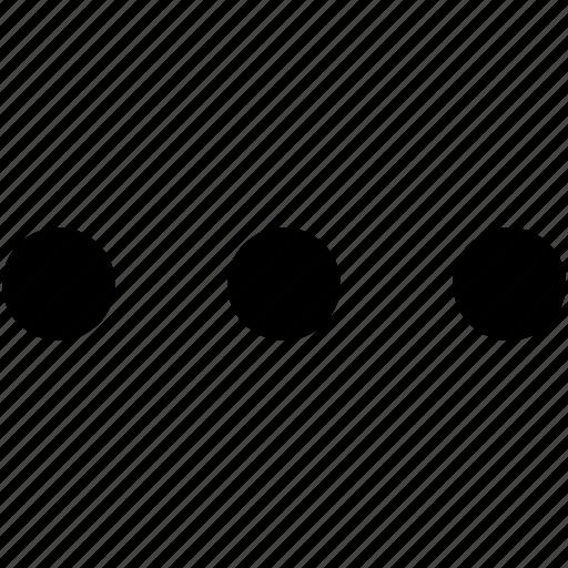 dots, ellipsis, more, symbol, three dots icon