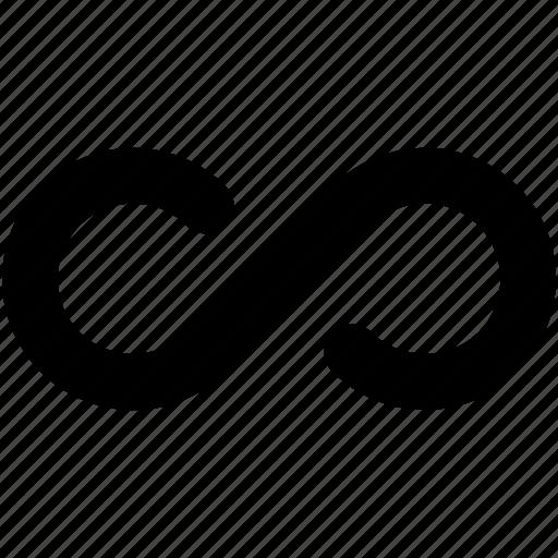 immeasurable, infinity, loop, math symbol, shape icon