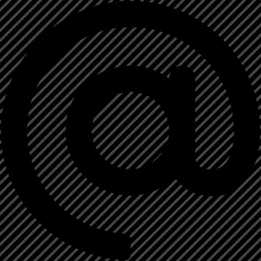 arroba, at, at sign, at symbol, email address icon