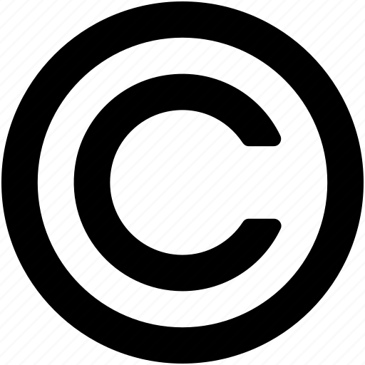 alphabet, authorship, c, copyright, letter c icon