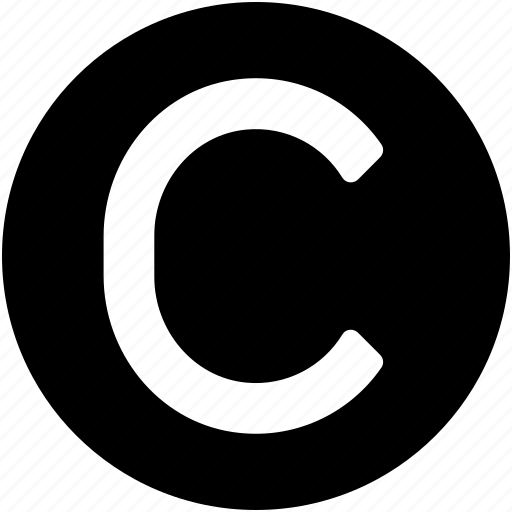 alphabet, authorship, c, copyright, letter c icon