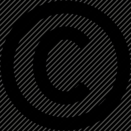 Alphabet, authorship, c, copyright, letter c icon - Download on Iconfinder