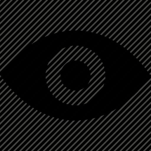 eye, human eye, organ, view, vision icon