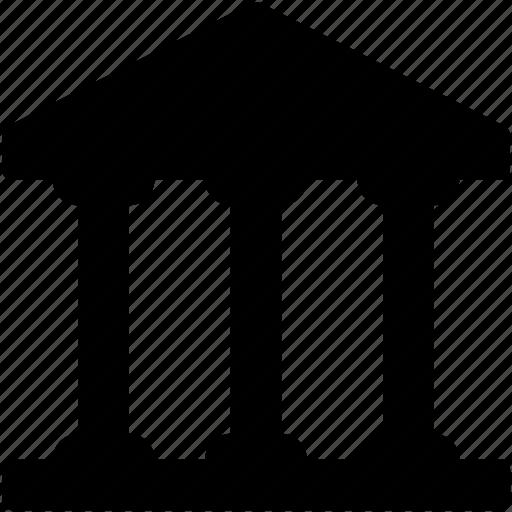 bank, building, court, institute, school building icon