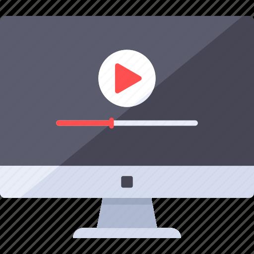 analytics, buffering, play, streaming, video, web icon
