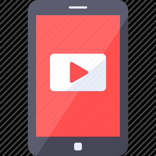 analytics, logo, media, play, social, video icon
