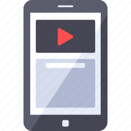 channel, comment, mobile, play, smartphone, video icon