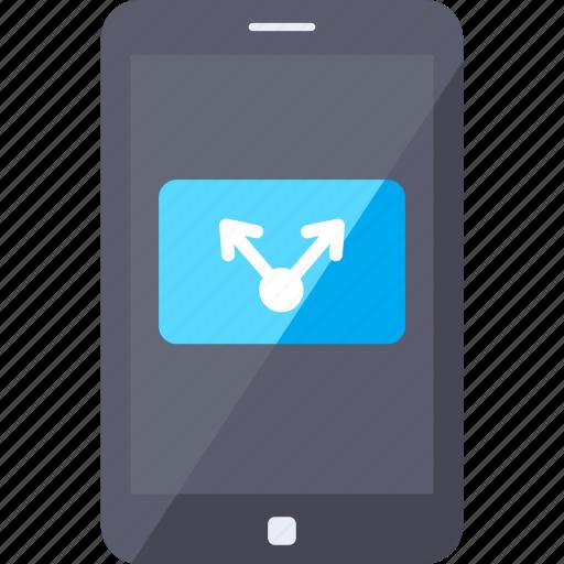 analytics, media, mobile, share, smartphone, social, video icon
