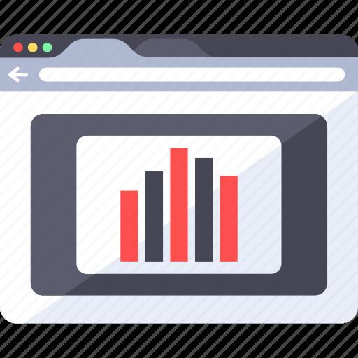 analytics, diagram, graphic, interface, statistic, video, web icon