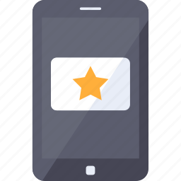 analytics, bookmark, channel, favorite, mobile, star, video icon