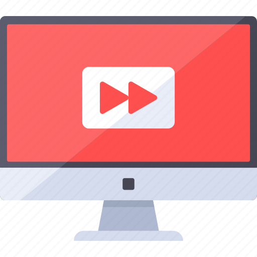 browser, channel, desktop, forward, play, video, web icon