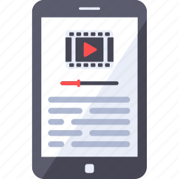analytics, buffering, channel, gallery, mobile, streaming, video icon