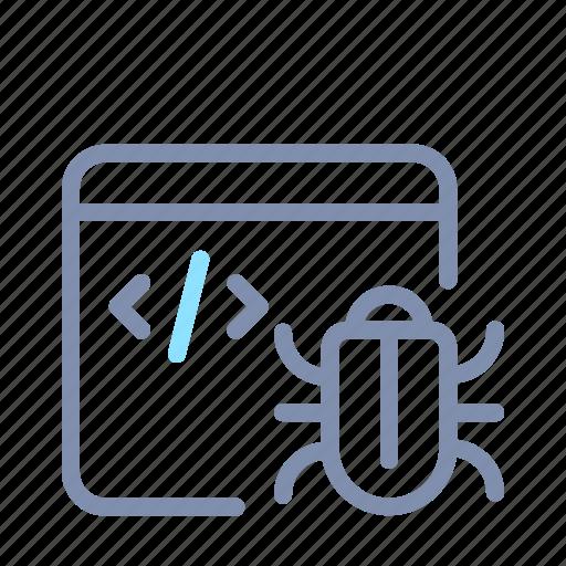 app, bug, code, coding, developer, programming, web icon