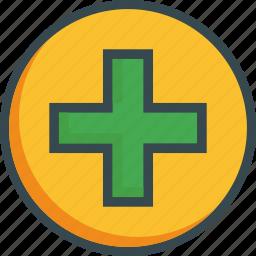 add, addition, create, new, plus icon