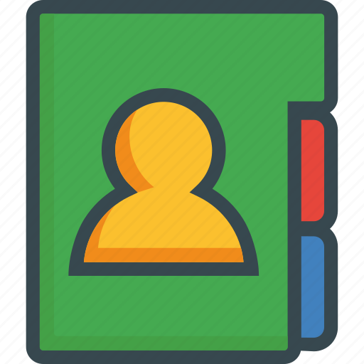 adress, adressbook, book, contacts, notebook, numbers, phone icon
