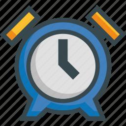 alarm, bell, clock, morning, ringing, time, wake icon