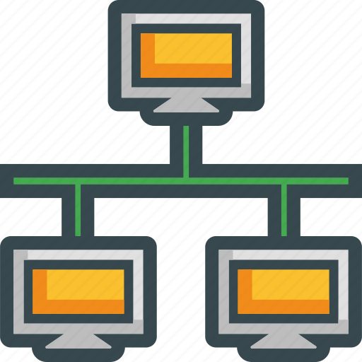 computer, connection, lan, network, pc icon
