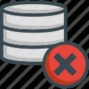 data, database, delete, erase, server, storage icon