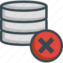 data, database, delete, erase, server, storage