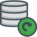 data, database, refresh, reload, server, storage, update icon